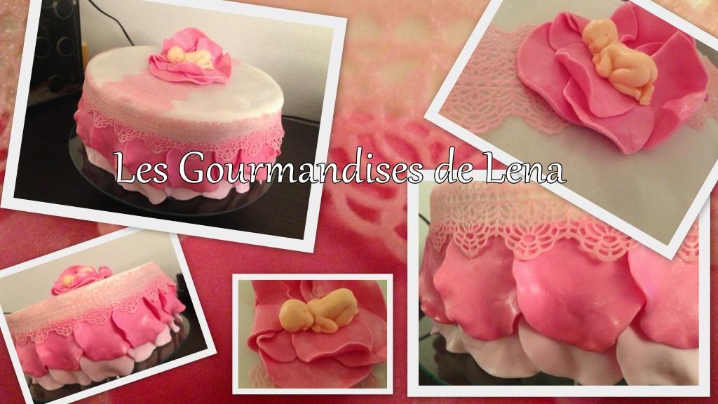 Premieres broderies en pâte à sucre pour Lilie Rose... dans CAKES DESIGN broderies
